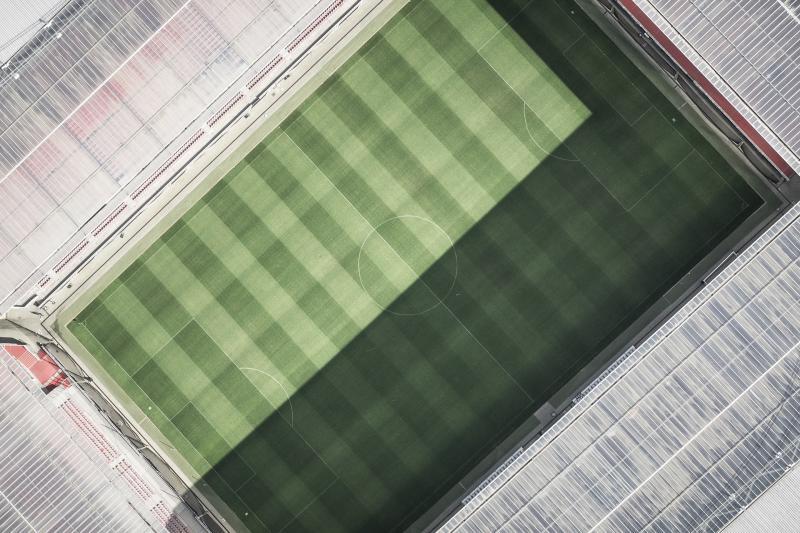 Fußball Stadion von oben / Pixabay